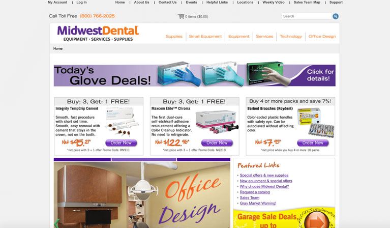 Equipment supplies and Hardware of Patterson Dental Midwest Dental